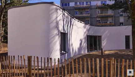 A five room house was printed by the University of Nantes in France
