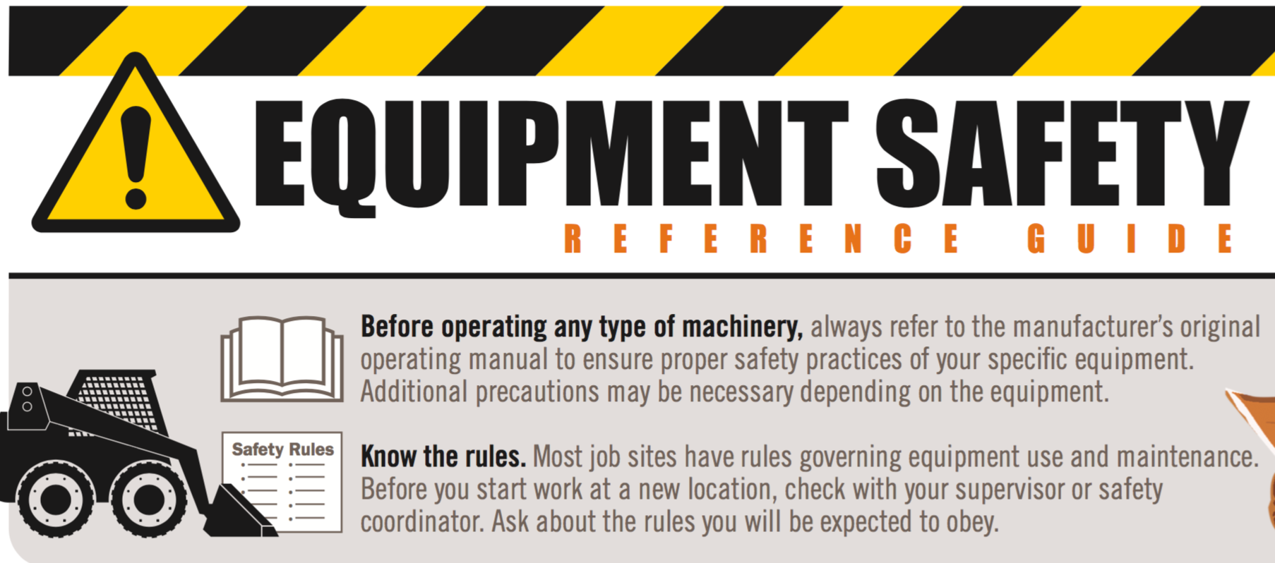 AEM offers an Equipment Safety Infographic poster