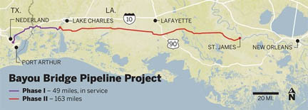The Bayou Bridge Pipeline build is ready to start in southern Louisiana