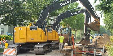 John Deere construction sales were up 29 percent for the quarter