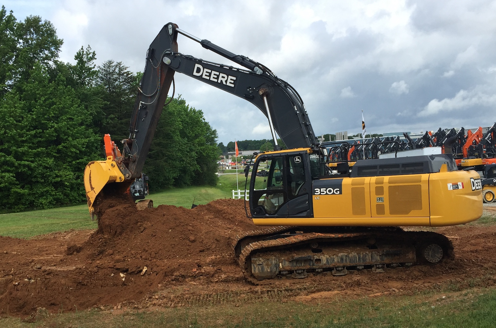 Deere demonstrated grade guidance on the 350G excavator
