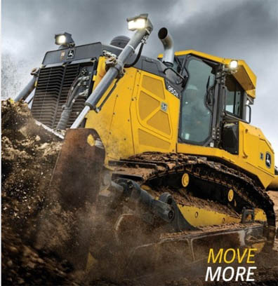 John Deere reported construction and forestry revenue of $1.657 billion.