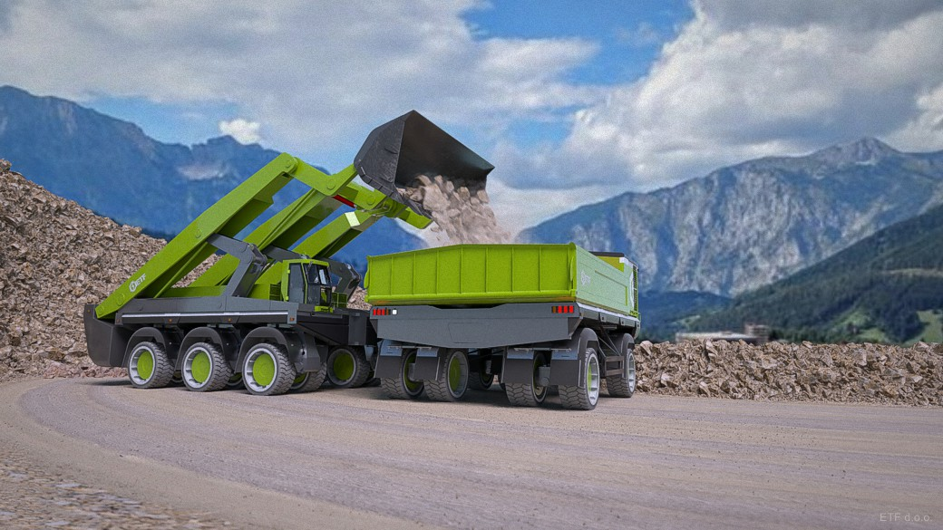 ETF trucks will be paired with electric loaders