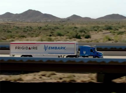 Embark's Peterbuilt test truck did 2,400 miles with very little human assistance