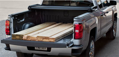 The carbon-fiber pickup box is expected to be offered on some Silverado and GMC Sierra pickup trucks