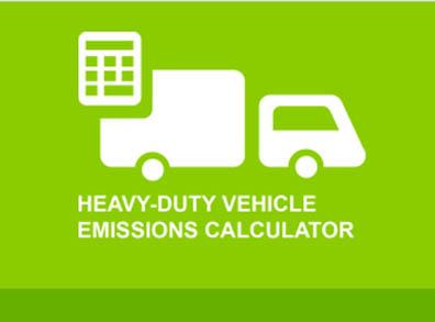 Heavy Duty Vehicle Emissions Calculator gauges emissions reductions on various heavy-duty vehicles