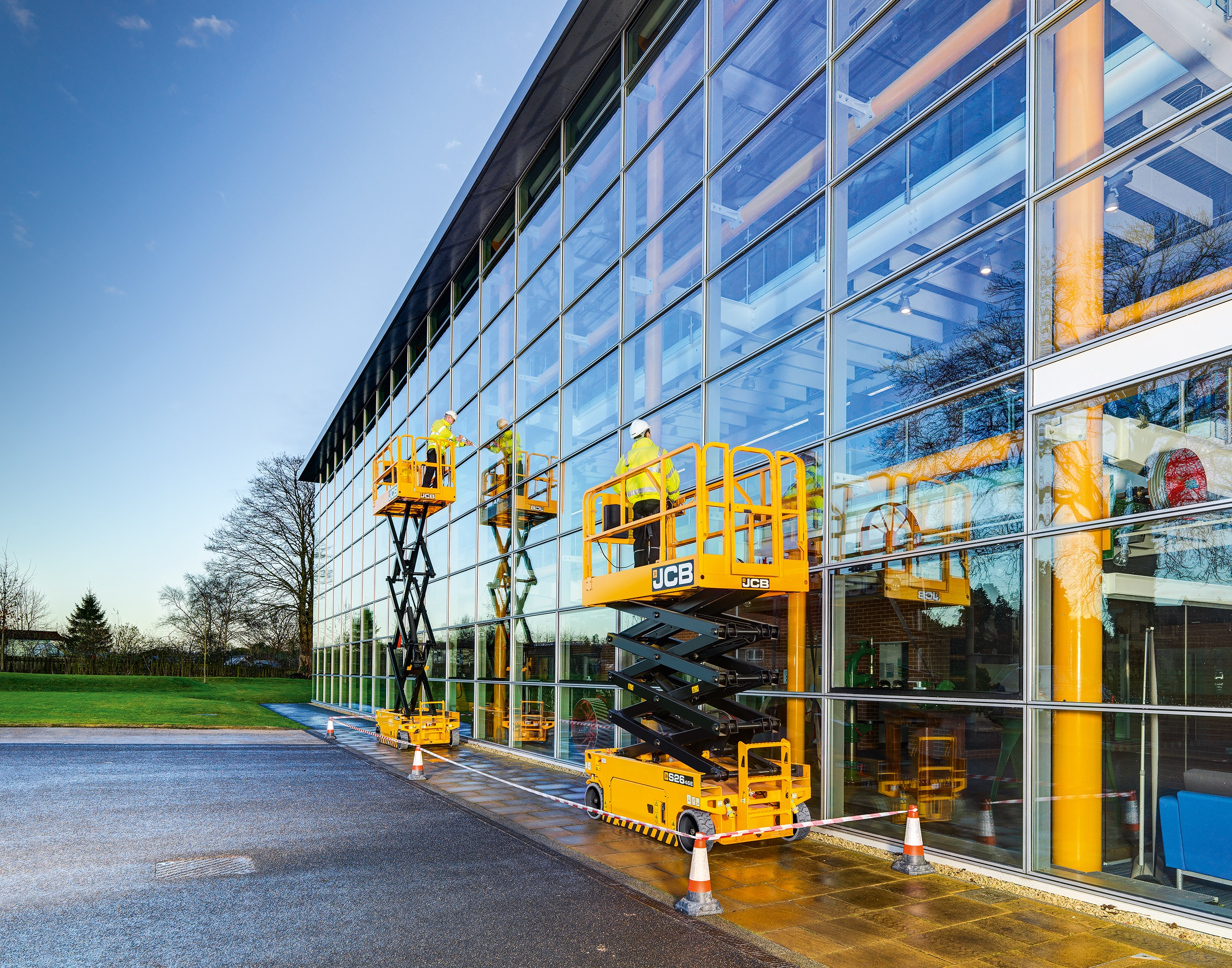 JCB introduced its first nine products to signal its entrance into the aerial lift market.