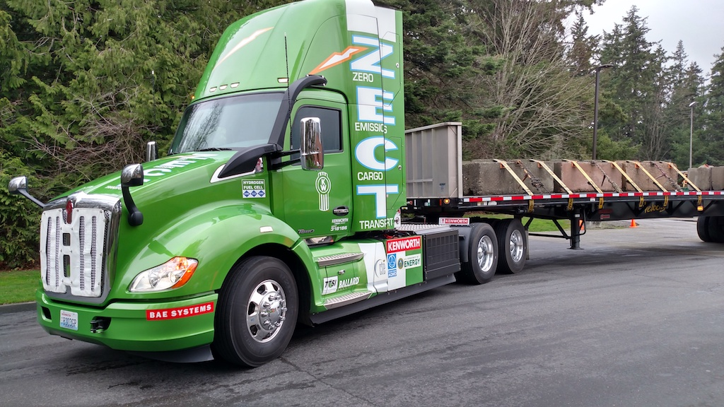 Kenworth Zero Emissions Cargo Transport (ZECT) is a highly modified T680 tractor