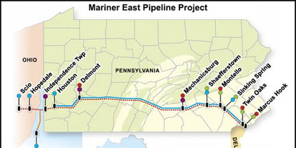 Sunoco Pipeline agreed to pay a fine for permit violations and will resume construction on the Mariner 2 East natural gas pipeline.