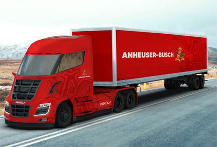 Anheuser-Busch has ordered up to 800 Nikola hydrogen-electric semi-trucks