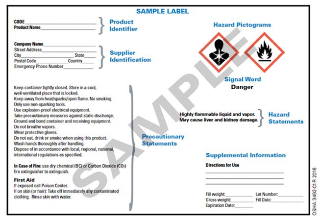 June Deadline For OSHA Chemical Hazard Communication Standard - Osha secondary container label template