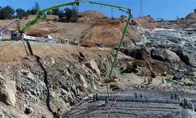 Kiewit Infrastructure West makes progress at the Lake Oroville Spillway