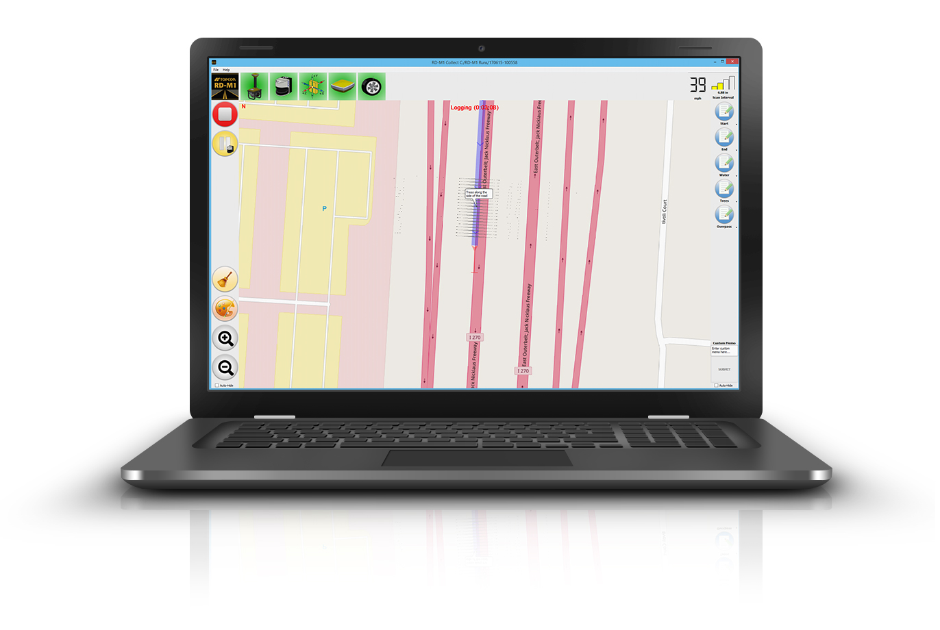 Topcon RD-M1 Collect 2.0 includes updates designed to facilitate and optimize mapping of road conditions.