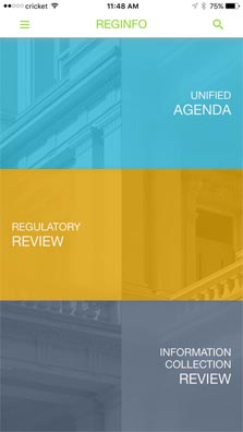 The RegInfo-mobile-app-by-the-U.S.-General-Services-Administration-is-available