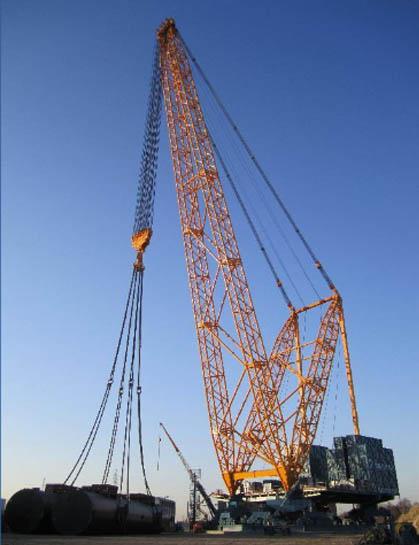 Sarens SGC-140 has a lifting capacity of 3,200 tons at a radius of 50 meters