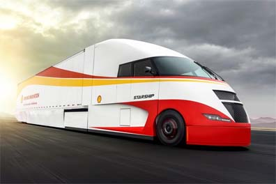 Shell and the AirFlow Truck showed off their Starship Project tractor this week