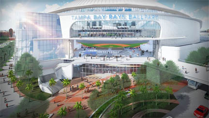 Tampa Bay Rays ballpark is projected to cost $809 million