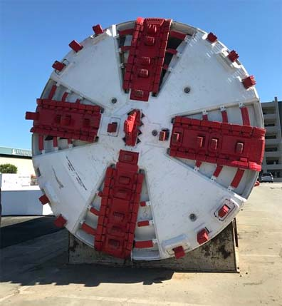 This Boring Company tunnel boring machine will do the bulk of the work under Hawthorne.
