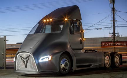Thor Trucks lifted the cover on the company's new ET-One electric semi