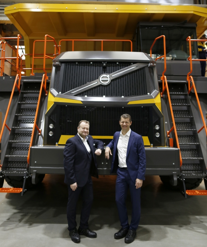 Volvo R100E haul truck is an all new model