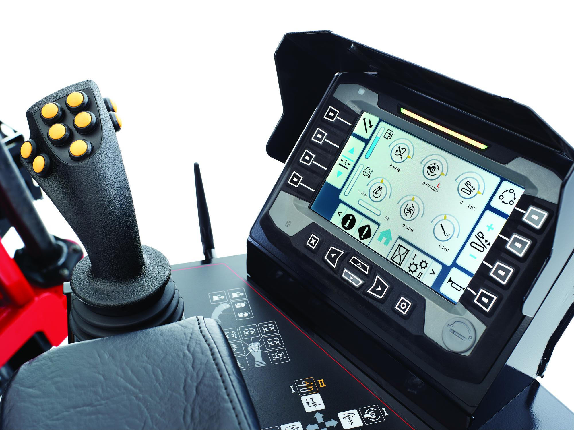 The monitor panel on Toro's new DD2226 drill illustrates the industry's move toward controls that can help less-experienced operators work more efficiently.