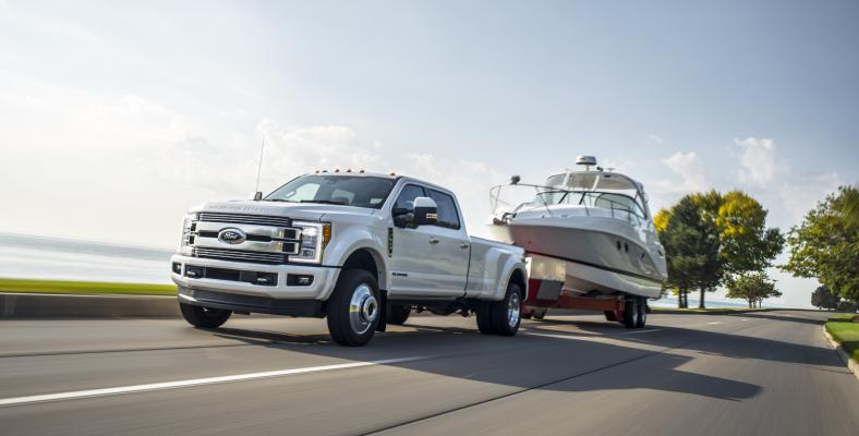 2018 Ford F-Series Super Duty truck has an upgraded Power Stroke V8 diesel