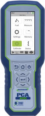 PCA 400 portable combustion and emissions analyzer is designed for commercial and industrial applications such as engines, generators, and boilers, providing efficiency measurements and combustion emissions data during the fuel burning process.