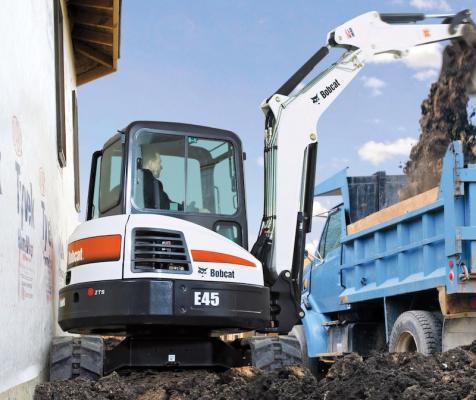 bobcat e42 e45 e50 e55 excavators construction equipment rh constructionequipment com