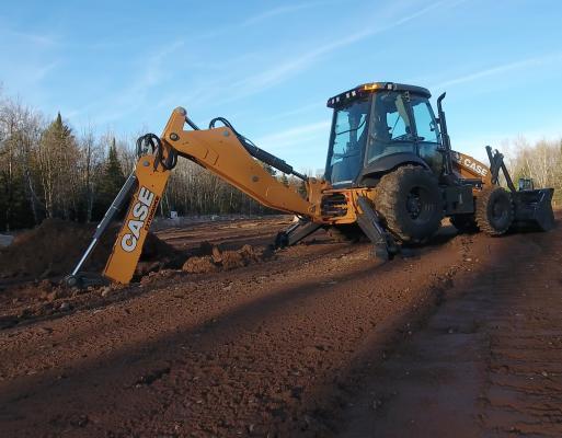 Case 580N backhoe loader has been enhanced