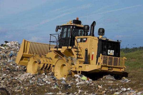 Cat Landfill Compactor : Caterpillar k landfill compactor construction equipment