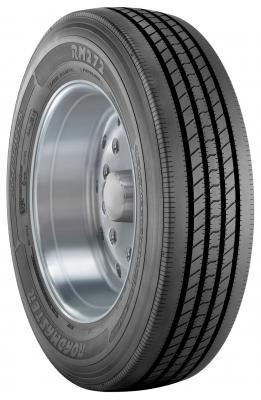 The Roadmaster RM272 tire line for drop deck and spread axle trailers is available in sizes 295/75R22.5 LR H, 11R22.5 LR H, and 11R24.5 LR H.