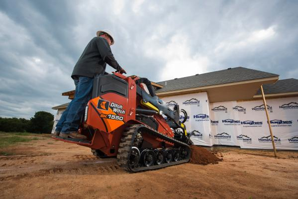 The SK1550 mini skid steer loader is Ditch Witch's largest model