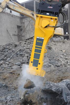 Many of the company's heavy hydraulic breaker attachments now feature the patented Intelligent Protection System (IPS), which combines its AutoControl and StartSelect functions.