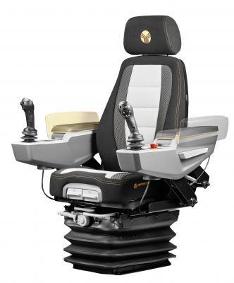The Grammer MSG 285 suspension is designed for excavator, wheel loader, roller, and backhoe operators.