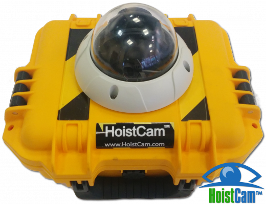 Netarus HoistCam HC180 Armored Dome is designed to facilitate concrete pours done with tower cranes by providing the crane operator with a view of activity below the hook.