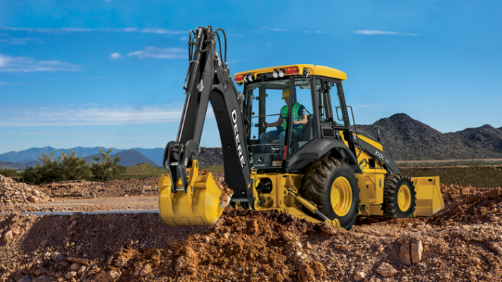 The 310L EP backhoe loader uses a 69-horsepower Yanmar Tier 4-I diesel engine