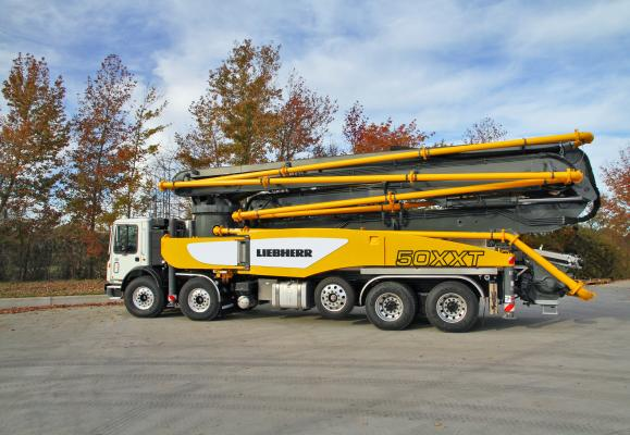 The 50 M5 XXT extends the range of truck-mounted concrete pumps available from Liebherr.