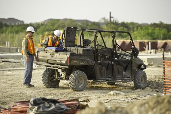 The Polaris Ranger line offers two-seat, full-size, and Crew models.