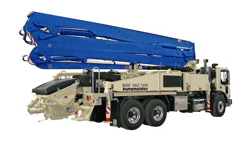 Putzmeister 36z Meter Concrete Pump Carries More Payload