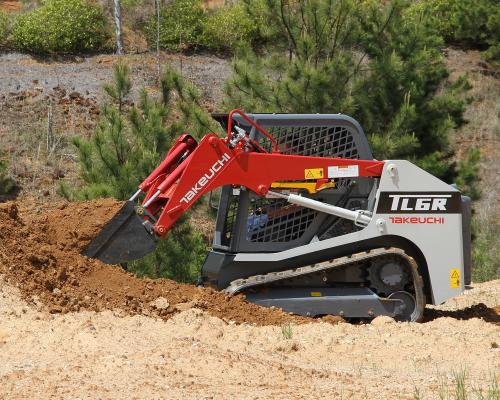 Takeuchi TL6 compact track loader has a rated operating capacity of 1,841 pounds
