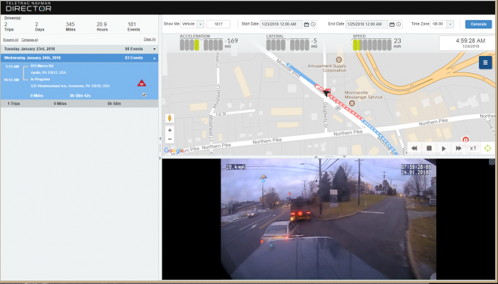 The fully integrated Driver Safety Analytics Solution is part of the company's Director platform, and combines GPS tracking data and event replays, dashboard camera technology, driver scorecards and analytics on a single platform so fleet managers have information needed to reduce risks and implement safe driving practices.