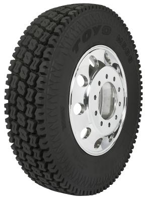 The M588 heavy-duty on-/off-road drive tire is built for applications including oil, gas, mining, and logging.