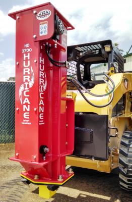 The Hurricane HD 3700 features a heavy-duty wheel-mount motor, an ultra-high molecular weight polyethylene chain guide, and a removable bottom end for easier maintenance and replacement of the ground engaging skids.