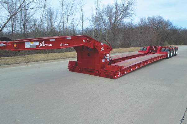 The Low-Profile HDG trailer features a loaded-deck height of 15 inches