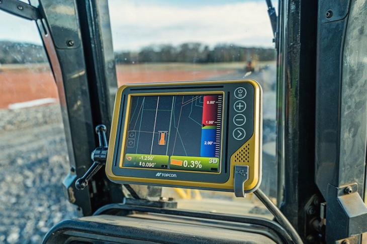 Topcon 3D-MCMAX dozer machine control system is driven by dual Inertial Measurement Units (IMUs)