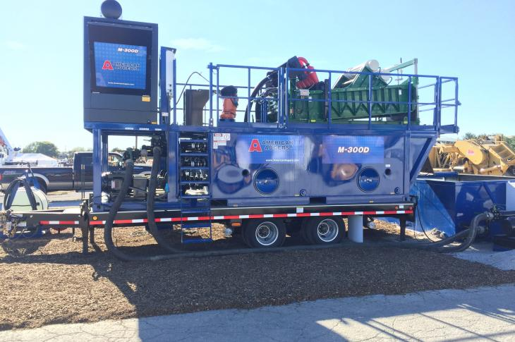 300-gpm fluid-cleaning capability supports any make of 60- to 100-ton horizontal directional drill.