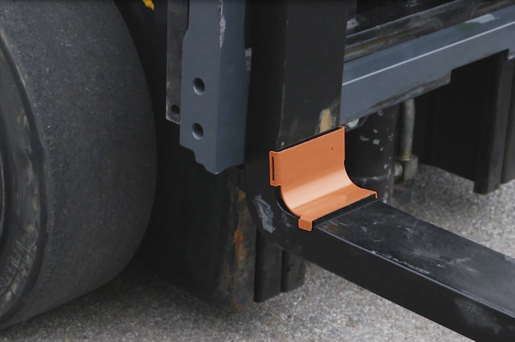 Fork Shields are designed to protect the most vulnerable part of the forklift fork from nicks, gouging, accidental damage, and resulting stress cracks.