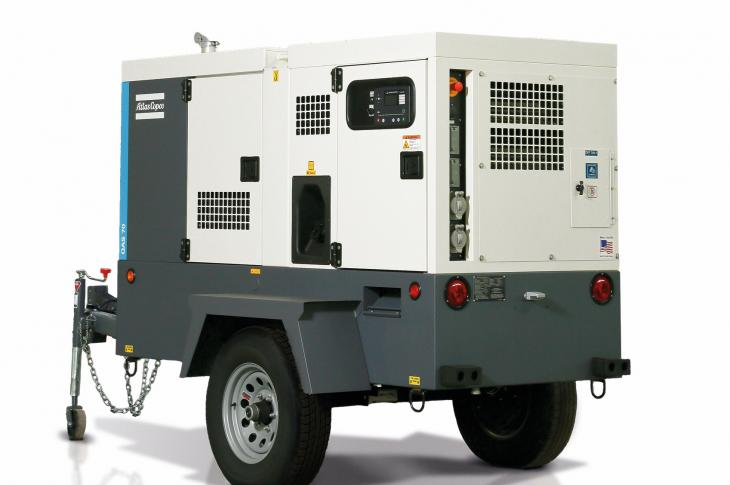 Atlas Copco QAS 70 generator has been redesigned