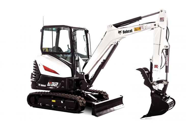 Trenching buckets and grading buckets are available for the Bobcat E26 through E85 compact excavators.