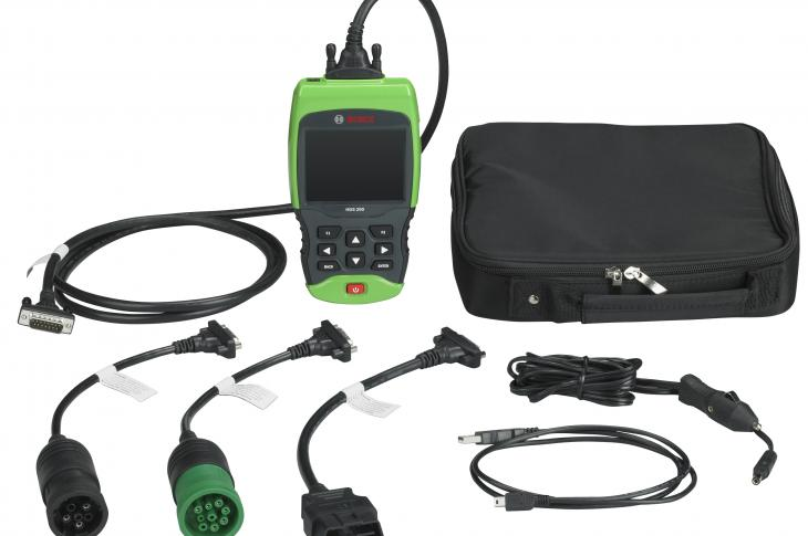 The HDS 200 heavy-duty scan tool is designed for technicians working on class 4-8 trucks and as a solution for aftermarket repair shops that sometimes service heavy- and medium-duty trucks.